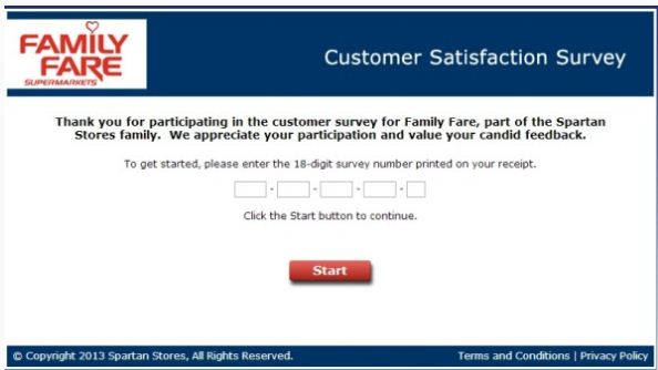Family Fare Guest Satisfaction Survey