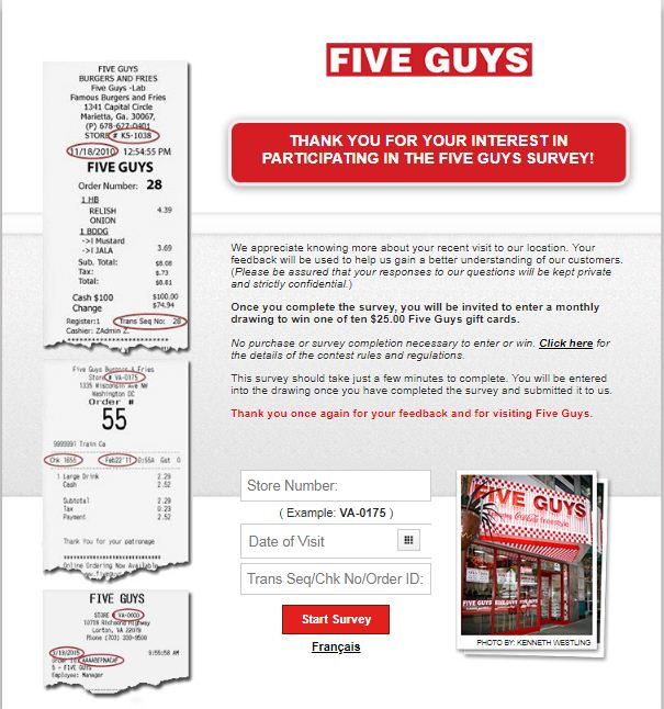 fiveguys survey