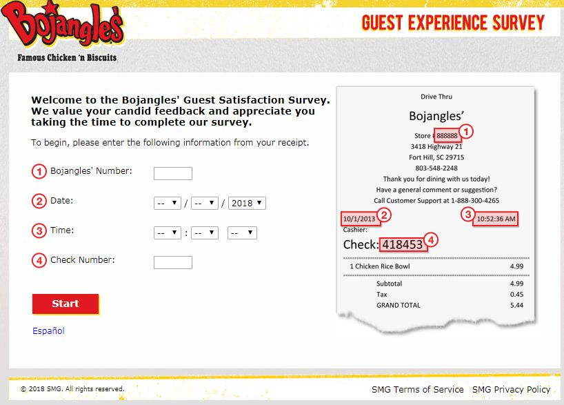 Bojangles Guest Satisfaction Survey