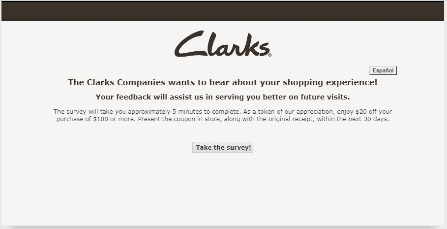 Clark Customer Satisfaction Survey