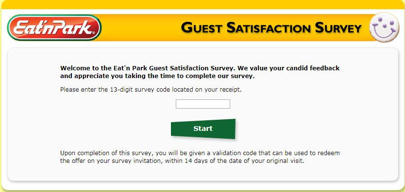 "Eat""n Park Guest Satisfaction Survey"