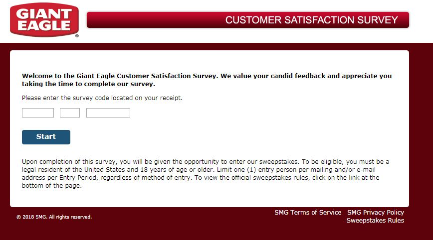 Giant Eagle Customer Satisfaction Survey
