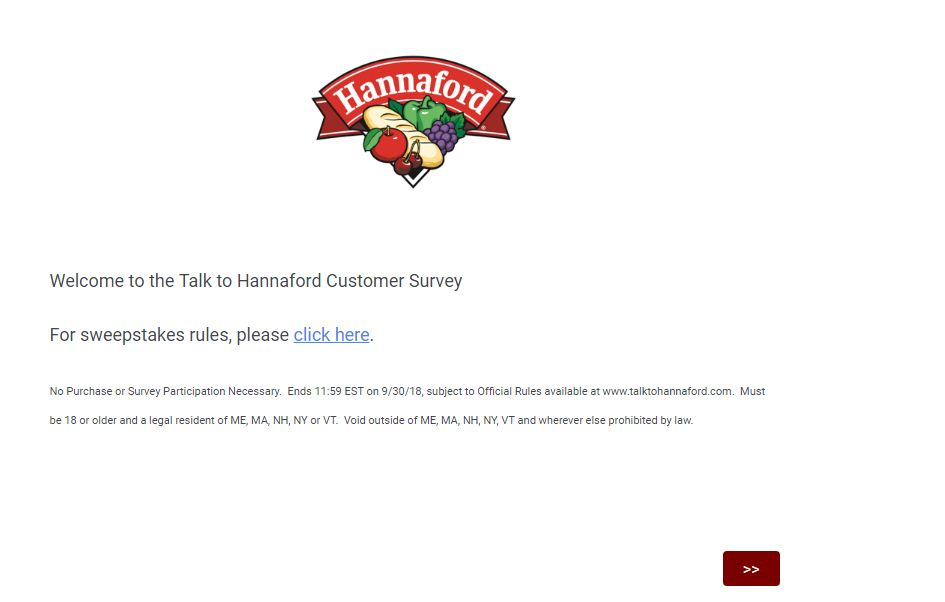 Hannford Customer Satisfaction Survey