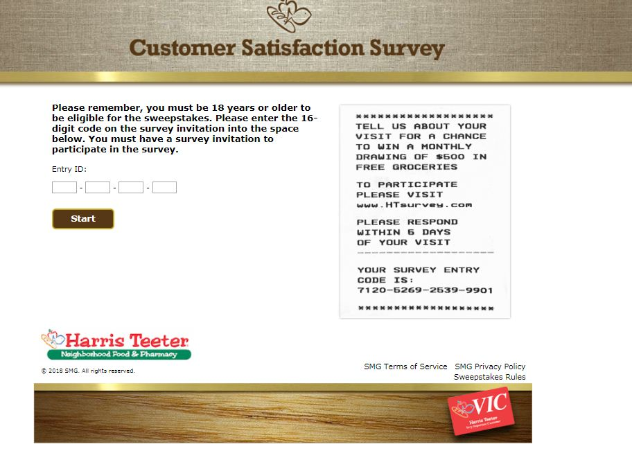 Harris Teeter Guest Survey