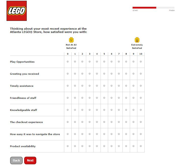 Lego Customer Survey