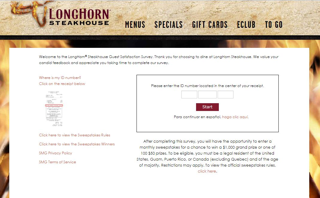 Longhorn Steakhouse Customer Experience Survey