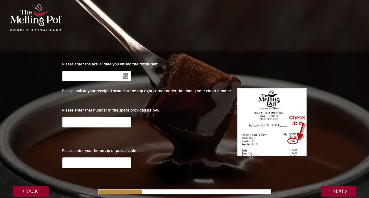 Melting Pot Fondue Customer Survey