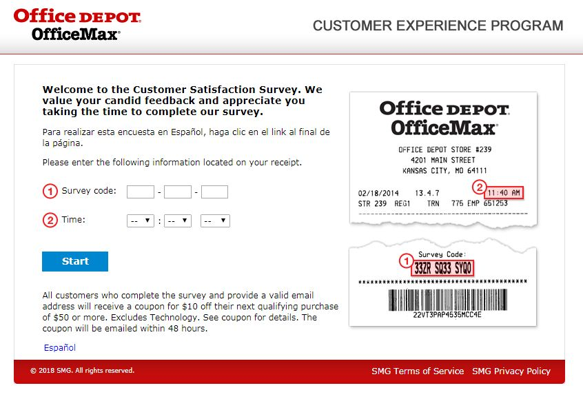 Office Depot Customer Satisfaction Survey