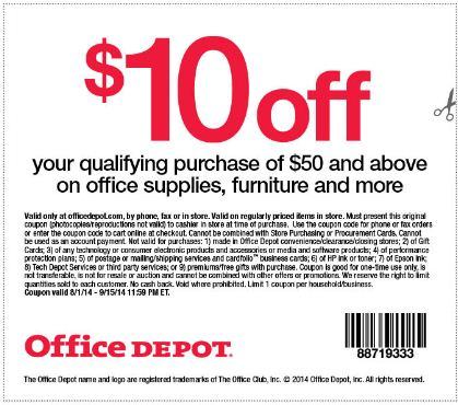 Office Depot Guest Feedback survey