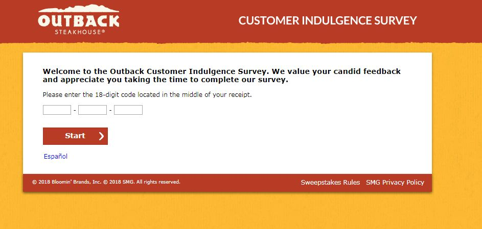 Outback Steakhouse Customer Satisfaction Survey