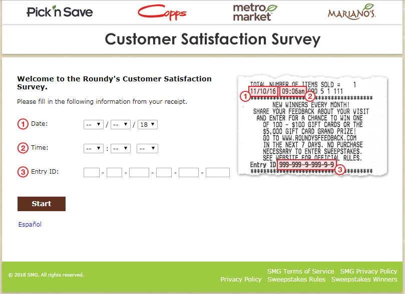 Roundy's Customer Satisfaction Survey
