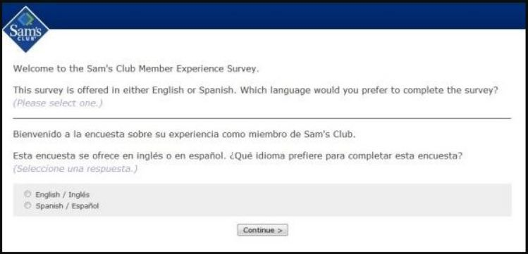 Sam's Club Guest Satisfaction Survey