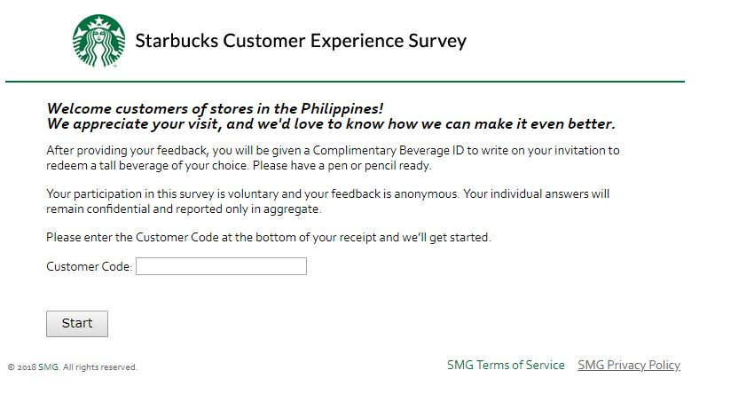 Starbucks Customer Satisfaction Survey