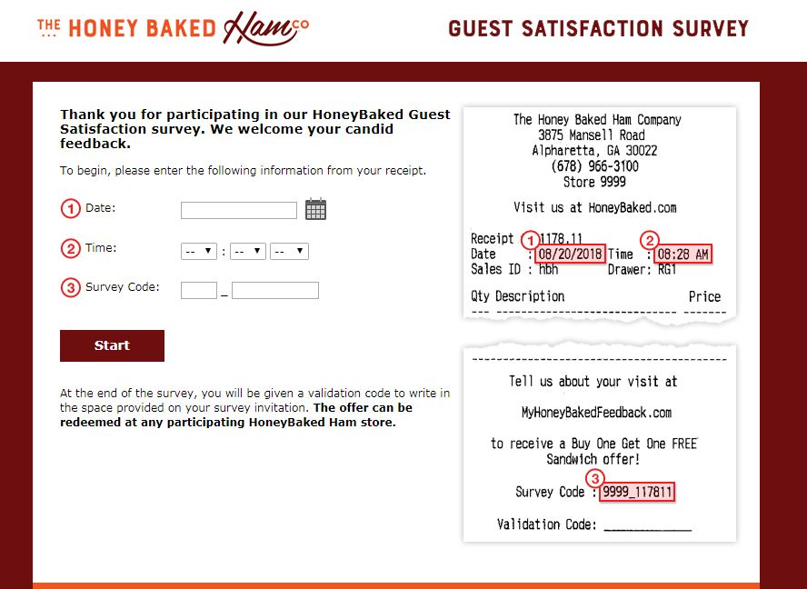 Honeybaked Ham Guest Satisfaction Survey