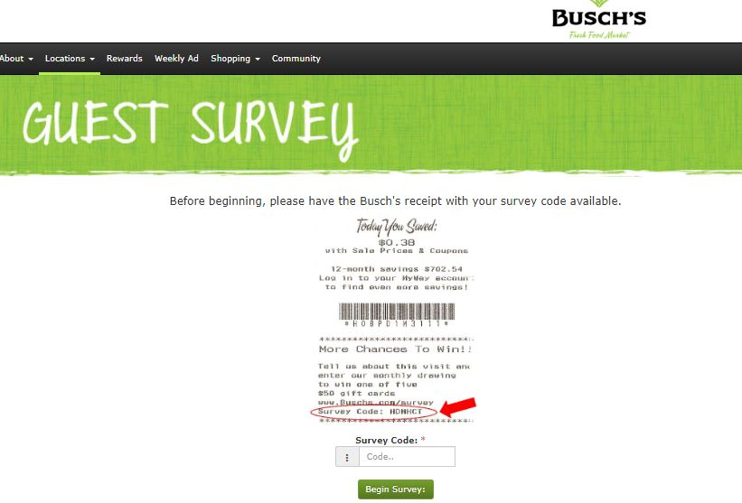 Buschs Guest Satisfaction Survey