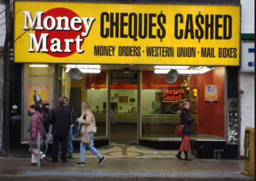 Money Mart Cheques Cashed