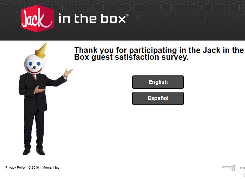 Jack in the box Guest Satisfaction Survey