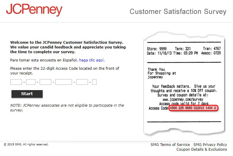 Jcpenney Guest Satisfaction Survey