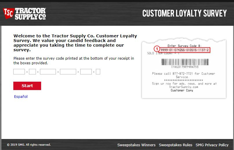 Tractor Supply Guest Satisfaction Survey