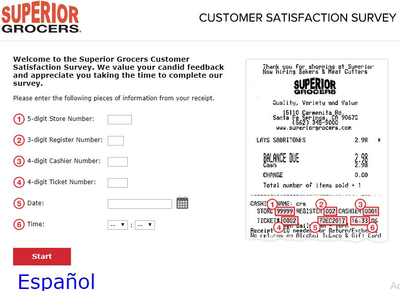 superior grocers guest satisfaction survey