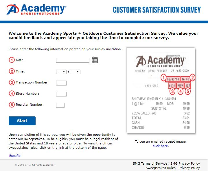 Academy Outdoors Customer Satisfaction Survey