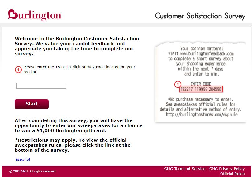 Burlington Guest Satisfaction Survey