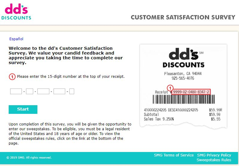 DD's Discounts Customer Satisfaction Survey