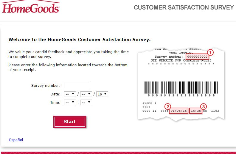 HomeGoods Guest Satisfaction Survey