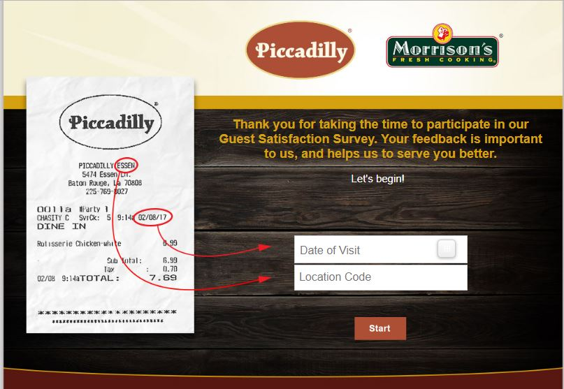 Piccadillys guest satisfaction survey