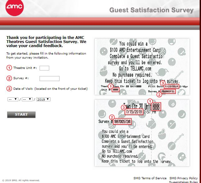 Amc theatres Satisfaction survey