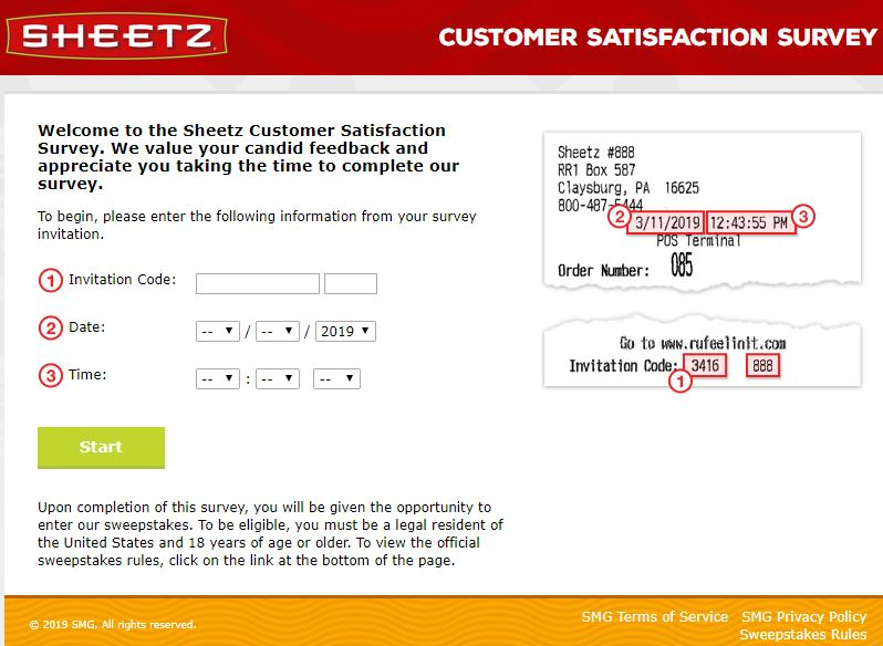 Sheetz Customer Satisfaction Survey Online