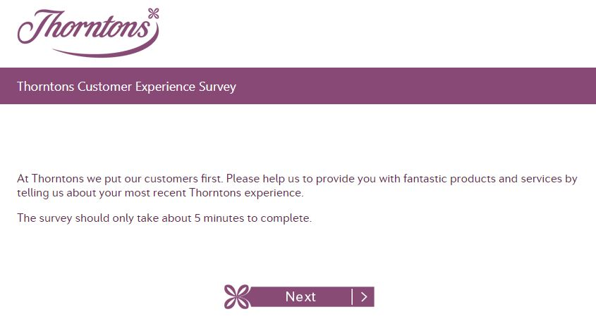 Thorntons Guest Satisfaction survey